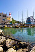 The port at Jaffa in Israel on a sunny day — Foto Stock