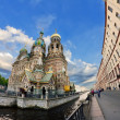 Church of the Savior on Spilled Blood in Saint-Petersburg — Stock Photo