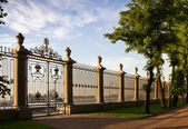 Fence of the summer garden in St Petersburg — Stock Photo