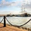 Deborkader in the Neva River in St. Petersburg — Stock Photo