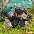 Aim paintball players — Foto Stock