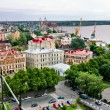 View of the  historical center of Vyborg — Stock Photo