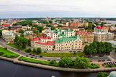 View on the roofs of Vyborg from the height of bird flight — Stock Photo