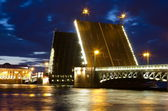 Palace bridge in Saint Petersburg white nights — ストック写真