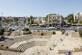 View from the Damascus Gate to the square and Jerusalem — Stock Photo