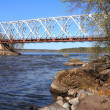 Railway bridge across River — Stock Photo #34321031