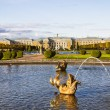 Stock Photo: The fountain of Neptune in the top park ensemble Peterhof