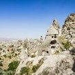 Stock Photo: Homes in volcanic rock formations of Cappadocia, Turkey