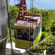 Yellow cableway on Mount Ai-Petri is sent down,Crimea, Ukraine — Stock Photo