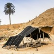 The Berber tent in the Sahara desert, Tunisia, Africa — Stock Photo