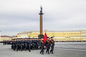Victory parade on Palace Square in Saint Petersburg, April 28, 2 — Stock Photo