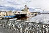 """Icebreaker """"Moscow"""" is moored near the promenade des Anglais in — Stock Photo"""
