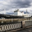 Постер, плакат: Ice breaker Mudyug moored to Lieutenant Schmidt embankment in