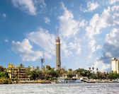 Cairo Tower, Cairo on the Nile in Egypt — Stock Photo