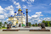 Voznesenskij Cathedral and red square in the town of Yelets, Li — Stock Photo