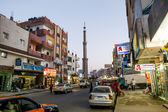 The central street of Hurghada in Egypt evening illumination — Stock Photo