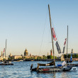Sailing in the waters of the Neva River in St. Petersburg at the — Stock Photo #49958255