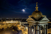 View from the Colonnade of St Isaac's Cathedral in St. Petersbur — Stock Photo