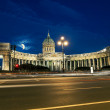 The Kazan Cathedral in St. Petersburg at night illumination — Stock Photo #51016241