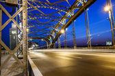 Construction of the Bolsheokhtinsky bridge across the Neva River — Stock Photo