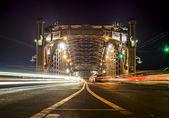 Bolsheokhtinsky bridge across the Neva River in St. Petersburg — Stock Photo