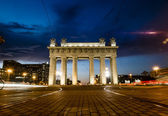 Moscow triumphal gates in Moscow Avenue in St. Petersburg — Stock Photo