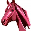 Pink horse — Stock Vector