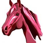 Pink horse — Stock Vector