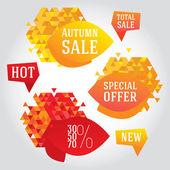 Jesień sprzedaż elementów projektu. — Wektor stockowy