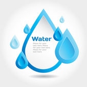 Vector design elements water theme. — Stock Vector