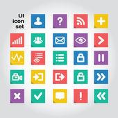 User interface fyrkantiga ikoner set. lager fil — Stockvektor