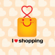 I love shopping.  — Stock Vector