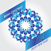 Business greeting christmas and New year card. — Stock Vector