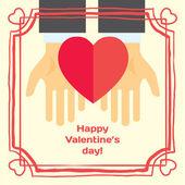 Valentýna nebo svatební přání — Stock vektor