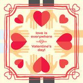 Valentine's or wedding greeting card — Stockvektor