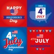 Set design elements for USA Independence Day — Stock Vector