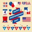 Set design elements for USA Independence Day — Stock Vector #48192291