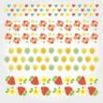 Sweet summer pattern — Stock Vector