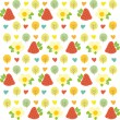 Sweet summer pattern with green trees — Stock Vector