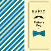 Happy father's day greeting card — Stock vektor