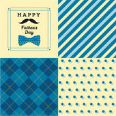 Happy father's day greeting card with pattern. — Stock Vector