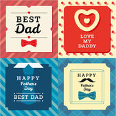 Happy father's day greeting cards — Stock Vector