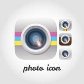 Photo and video camera icon set. — Stock Vector