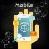 Mobile development and design illustration — Stock Vector