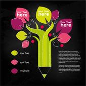 Kalem ağaç, bilgi grafiği — Stok Vektör