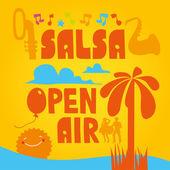 Salsa Open Air — Stock Vector