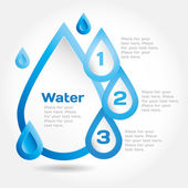 Elements water theme — Stock Vector