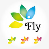 Fly yoga logo — Stock Vector