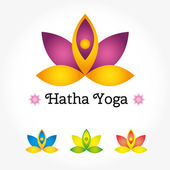 Hatha yoga logo — Stock Vector