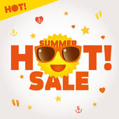 Summer sale lettering label — Stock Vector